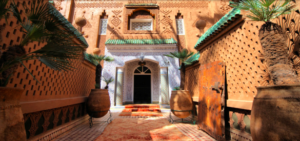 binnenplaats van het Riad dar Sofian hotel in Marakesh